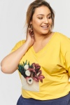 T-shirt Emeraldo 2 Plus Size Misty Yellow