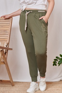 Spodnie Justy Plus Size Army Green