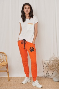 T-shirt Sonia BS Ekri/Orange