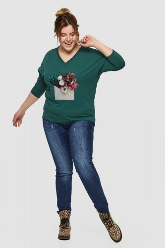 Bluza Emeraldo Plus Size Bistro Green