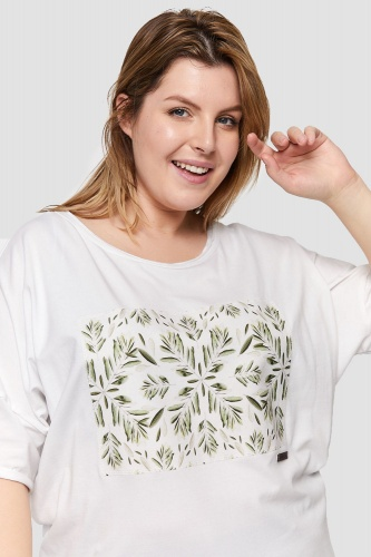 T-shirt Olives Plus Size Ekri