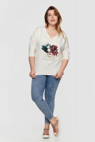 T-shirt Emeraldo 2 Plus Size Ekri