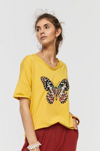 T-shirt Butterfly 2 BS Misty Yellow