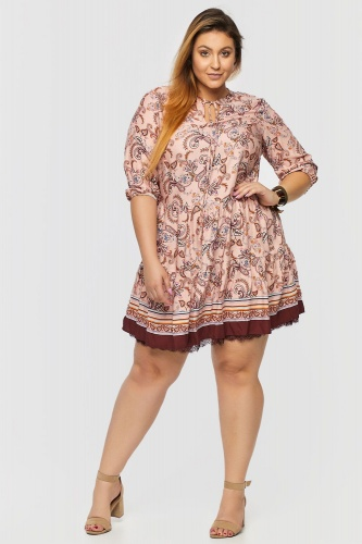 Sukienka Veronida Boho Plus Size Rusted Rose Persley