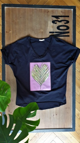 T-shirt Palm Viola 2 BS Czarny