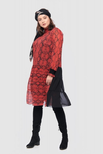 Sukienka Piazza Plus Size Red Snake