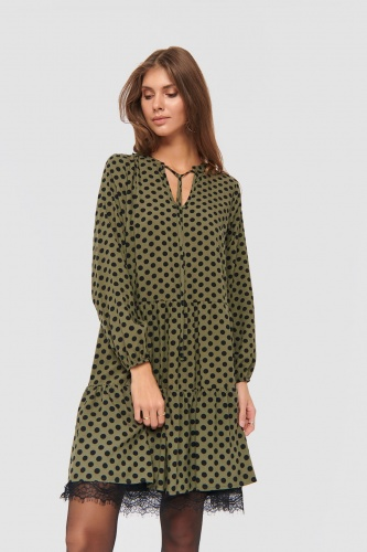 Sukienka Veronida Dots BS Khaki/Black