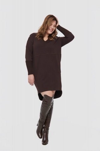 Sukienka Bluesh Plus Size Seal Brown