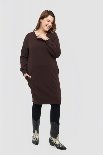 Sukienka Kwiat Pustyni Plus Size Seal Brown