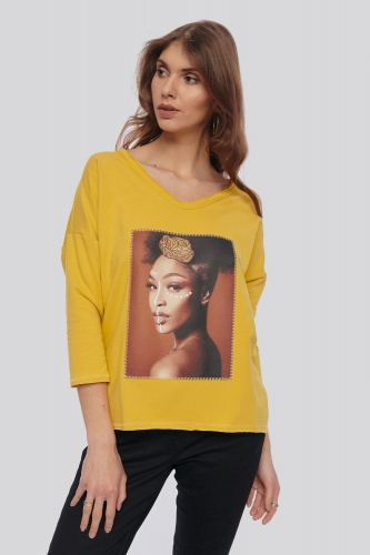 Bluza Dres. Africana  BS 3/4 Ręk. Misty Yellow