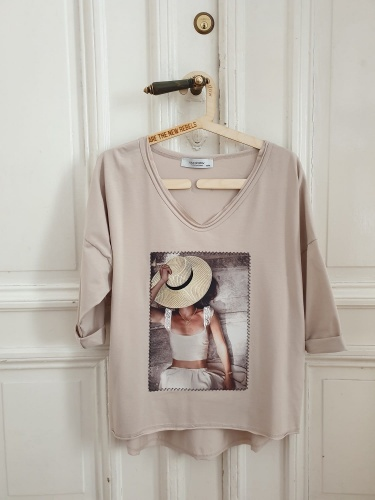 Bluza Secret BS 3/4 Ręk. Beż