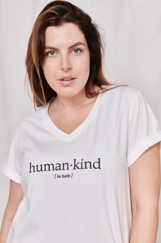 T-shirt Human Kind Plus Size Ekri