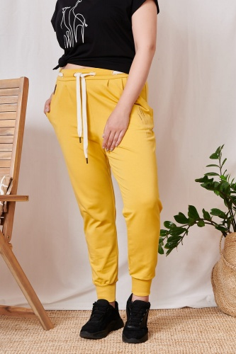 Spodnie Justy Plus Size Misty Yellow